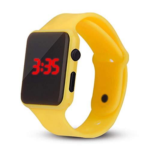 YLH Pareja Hombres Mujeres Estudiantes Relojes LED Reloj electrónico con Ajuste de Reloj Reloj Deportivo Caliente relgio esportivo Quente C5 (Color : H)