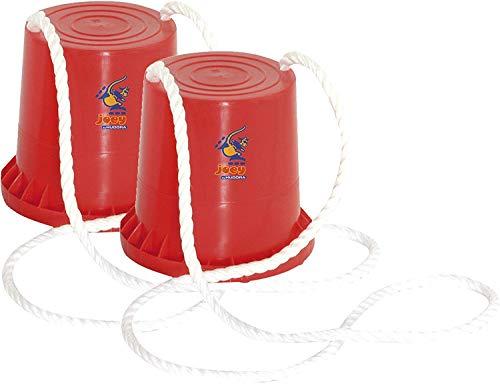 HUDORA Dosen Stelzen für Kinder, Topf-Stelzen Kinder joey, 1 Paar rot