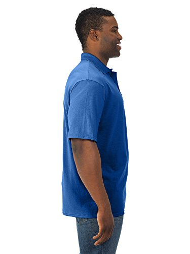 Jerzees mens 5.6 oz. 50/50 Jersey Pocket Polo with SpotShield(436P)-ROYAL-4XL