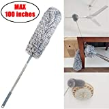 Best Ceiling Fan Dusters - Upgrade Extra Long Microfiber Duster with Telescoping Extension Review