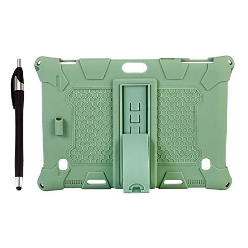Wivarra Silikon HüLle für Teclast M30 PRO / M30 10,1 Zoll Tablet Schutz HüLle Tablet SttNder mit Stift Schlitz & Stift (Matcha GrüN)