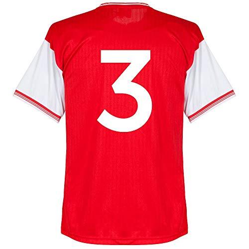 Score Draw Arsenal Home Centenary Nr.3 Retro Trikot 1984-1985 (Retro Filz-Spielerbeflockung) - XL