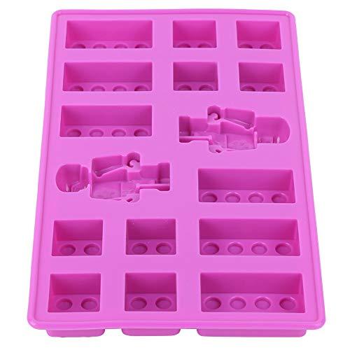 Oumefar Los moldes para cubitos de hielo sin BPA y sin bisfenol A aportan más diversión a la hora de hacer bebidas en color morado.