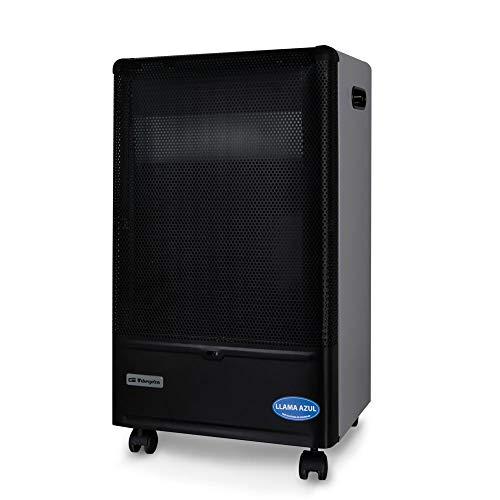 ElectrodomesticosN1 Estufa de Gas Orbegozo HBF 90 Llama Azul, 4200W + Regulador de Gas butano HVG, Tubo Manguera 0,8 Metros, Abrazaderas