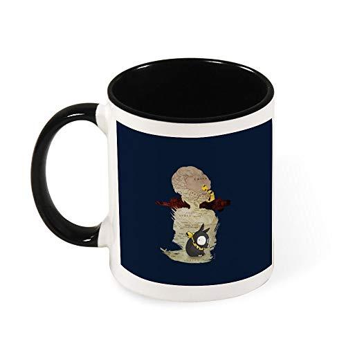 Ranma Ryoga Taza de café de cerámica con silueta de viaje, regalo para mujeres, niñas, esposa, mamá, abuela, 325 ml