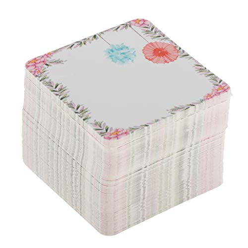 H HILABEE 100 TLG. Halsketten Display Karten Schmuckkarten Schmuckhalter für Schmuckaufbewahrung - C, 5x5cm