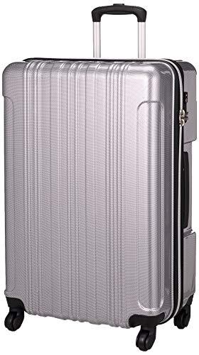[ビバーシェ] スーツケース ファスナー TSAロック 大型 SF2 SF2-L 80L 4.5kg カーボンシルバー