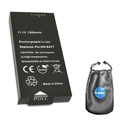 amsahr BT-POL340-BATT-1CT- Batería de Repuesto para cámara Digital y videocámara Polaroid 340-BATT/Z340 Instant/GL10 Instantáneo, Color Gris