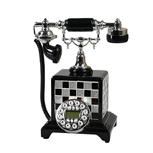 VERDELZ Teléfono Fijo clásico con Botones de marcación Teléfono Antiguo para Sala de Estar Hotel