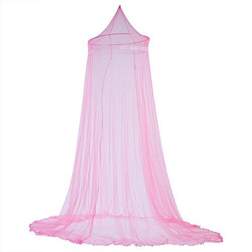 Fdit Bett Moskitonetz Bett Baldachin Vorhänge Elegante Spitze Prinzessin Kinder Baldachin Vorhang für Mädchen Zimmer Bettwäsche(Rose)