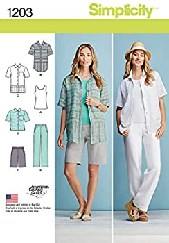 Simplicity 1203 Women s Top Tank Top Pants and Shorts Sewing Pattern Sizes 10-18