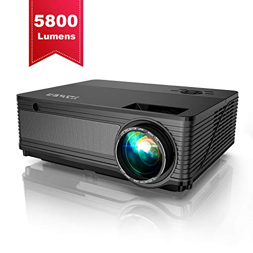 Projector, YABER Native 1080P Projector 5800 Lux Upgrad Full HD Video Projector...