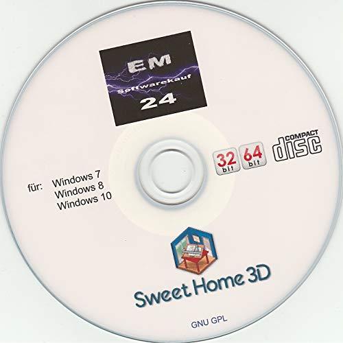 Sweet Home 3D Wohnungsplaner mit 2D- und 3D-Raumansicht (Planertool) CD
