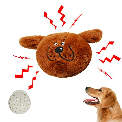 Iris Sprite Juguetes interactivos para Perros, Bola de risita de Felpa, Juguete electrónico para agitar, Adecuado para Perros pequeños y medianos Perros (marrón)
