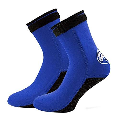 Aiyrchin Calcetines Botas de Buceo Surf Nado 3 mm de Neopreno Antideslizante Aletas Calcetines para Hombres Mujeres Buceo Snorkel Deporte acuático Blue M 1 par