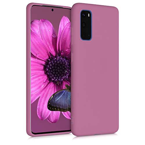 kwmobile Funda Compatible con Samsung Galaxy S20 - Carcasa de TPU Silicona - Protector Trasero en Rosa Palo