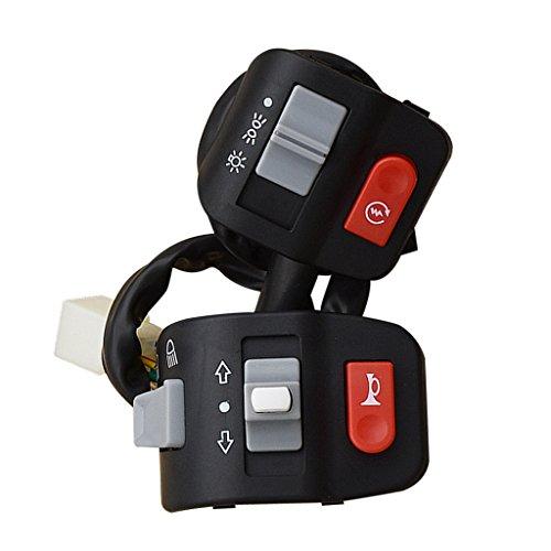 CROSYO Interruptor de Control de la Motocicleta de la Motocicleta del Interruptor de 2 Piezas del Interruptor para ya-ma-ha