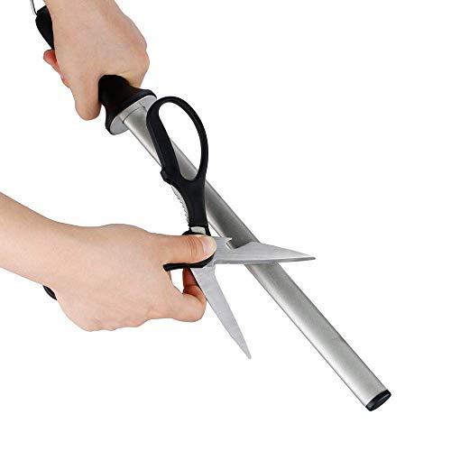 LLDKA Schärfer Messer, Peter Diamant Wetzstahl Profi Spitzer mit rutschfestem Griff 43cm
