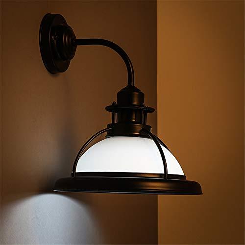YLSMN Amerikanische Retro- Spiegelscheinwerfer des Landes europäische Schmiedeeiserne nostalgische Badezimmer-Toilettenbadezimmer-Glaswandlampen nachtlicht steckdose