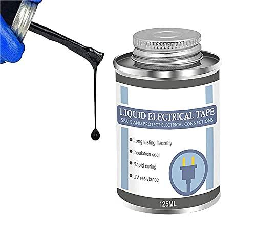 Nihexo Liquid Insulating Rubber Coat, Liquid Insulation Electrical Tape, High Temperature Resistant Flame Retardant Glue, Black Liquid Electrical Tape (1Pcs)