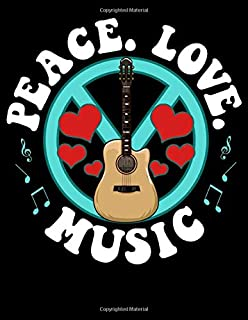 Peace Love Music: Peace Love Music Awesome Hippie Pacifist Festival 2020-2024 Five Year Planner & Gratitude Journal - 5 Ye...