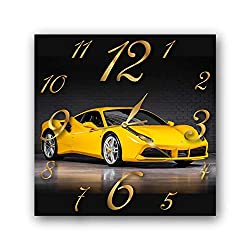 Ferrari 11'' Handmade Wall Clock - Get Unique décor for Home or Office – Best Gift Ideas for Kids, Friends, Parents and Your Soul Mates
