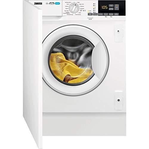 Zanussi ZWT816PCWA lavadora Carga frontal Integrado Blanco A - Lavadora-secadora (Carga frontal, Integrado, Blanco, Izquierda, Giratorio, LCD)