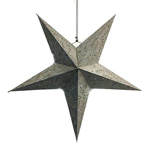 Bada Bing Leuchtstern Dekostern Edel Papier Stern Ø 56 cm Weihnachtsstern Taupe Silber 36701