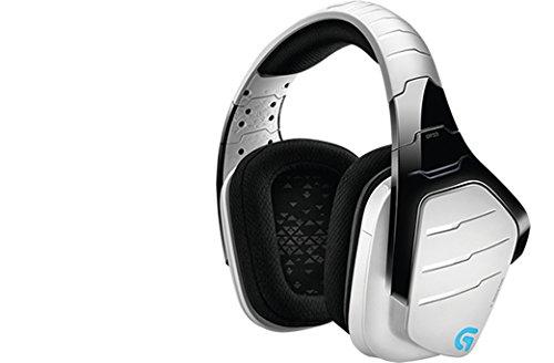 Casque gaming sans fil Logitech G933 Artemis Spectrum avec son surround 71 2,4GHz pour PC, Xbox One et PS4 - Blanc