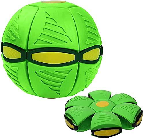 Novedad Flying UFO Juguete de bola de disco de lanzamiento plano, Bola mágica de OVNI Bola de platillo volador Bola voladora Juguetes de disco Bola de ventilación de deformación Juguetes interactivos