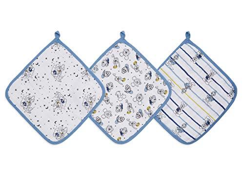 Pack de 3 débarbouillettes pour la Toilette en Mousseline de 100% Coton aden + anais™ essentials Mickey Stargazer (30x30cm)