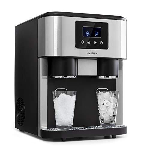 INTELIGENTE: Disfruta de bebidas bien frías y refrescantes a cualquier hora. La máquina de hielo Eiszeit Crush de Klarstein con tres funciones dos tamaños de cubitos de hielo hace que todo sea posible. POTENTE: La máquina de hielo Eiszeit Crush puede...