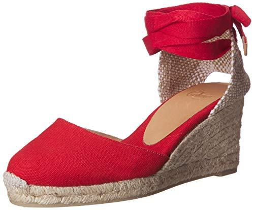 Castañer Carina 6 001, Espadrilles Femme, Rouge (Rojo Rubi 502), 36 EU