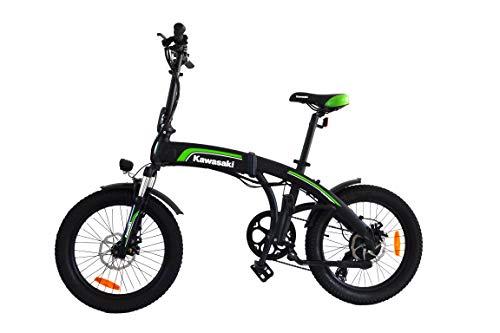 Amercook Bicicletta elettrica pieghevole Kawasaki 20 Fat