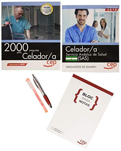 PACK AHORRO PRÁCTICO. Celador. Servicio Andaluz de Salud (SAS). (Contiene 2000 preguntas para Celador/a y Simulacros de examen y Acceso a 3000 preguntas interactivas en CEP Online