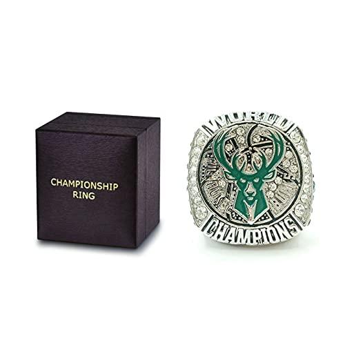 2021 Bucks Championship Ring Replica Basketball Champions Ring with Championship Ring Box for