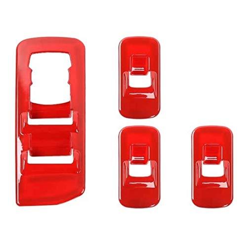 4 piezas de interruptores de ventana roja para interruptores de panel de elevación para Ford F150 2015-2018 (rojo)