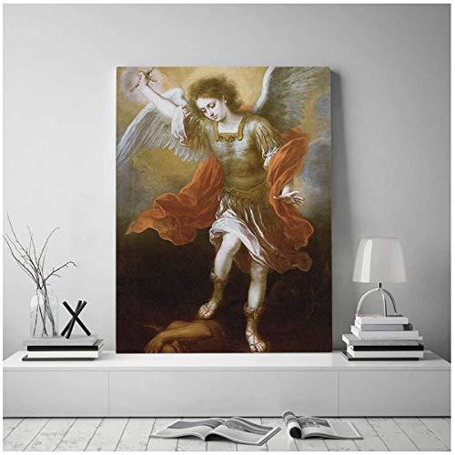 Decoración del hogar lienzo pared arte pintura Michael Devil Abyss imágenes retrato impresión cartel para sala de estar-24x36 pulgadas sin marco