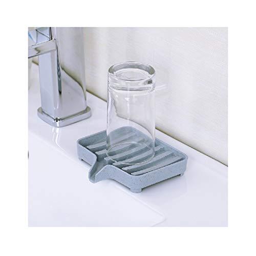 MOVEmen Flexible Bathroom Soap Dish Storage Holder Rack Soapbox Plate Tray Drain Sponge Holder for Soap Best Assistant for Travel, Kitchen, Bathroom, Tabletop (Blue)