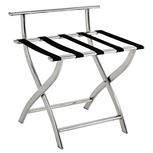 Lw luggage rack Soportes para Maletas Plegable Porta Equipaje Maleta Soporte Organizador, de Acero Inoxidable de Titanio Maletero Plegable (Color : A)