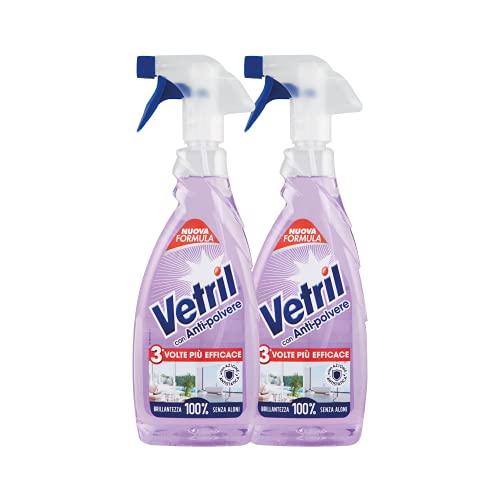 Vetril Spray Vetri e Superfici, 2 x 650ml