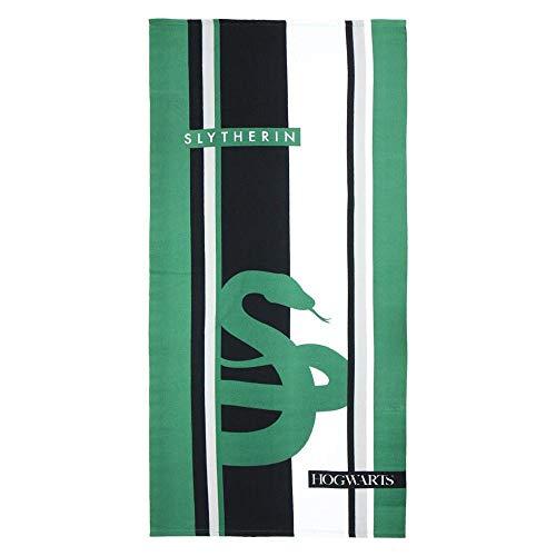 Cerdá 2200003872 Toalla Polyester Harry Potter Slytherin, Verde, 70x140cm