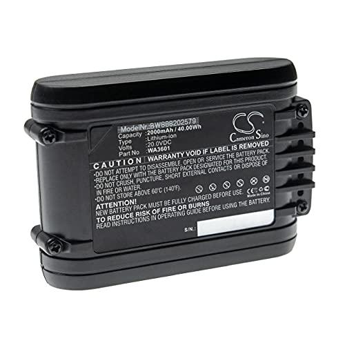 vhbw Batería Recargable Compatible con Worx WR105SI, WR106SI, WR110MI, WR130E, WR142E, WR155E Robot cortacésped (2000 mAh, 20 V, Li-Ion)