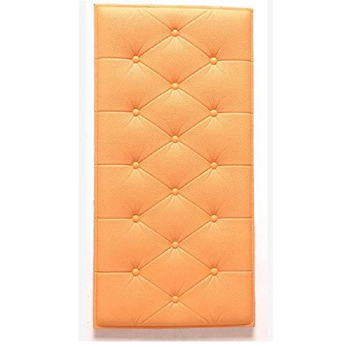 Graz Design - Adesivo da parete, per cameretta dei bambini, 3D, con testiera imbottita, protezione da parete, protezione da parete (arancione)