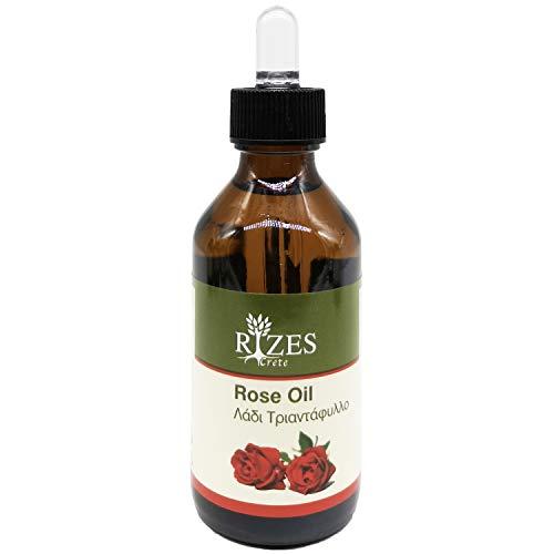 Original Rizes Rosenöl | 100% naturrein | Enthält ätherische Öle | Für alle Hauttypen | Vegan