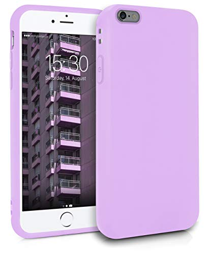 MyGadget Funda Slim para Apple iPhone 6 Plus / 6s Plus en Silicona TPU - Resistente Carcasa Antichoque Flexible & Protectora - Friendly Pocket Case - Lila