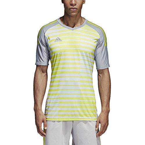 adidas AdiPro 18 Goalkeeper Jersey Short Sleeve (X-Large) Light Grey/Grey/Solar Yellow