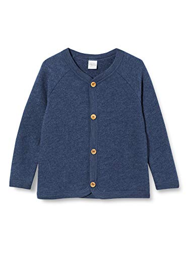 Fred's World by Green Cotton Unisex-Baby Wool Fleece Jacket, Navy Melange, 92/98