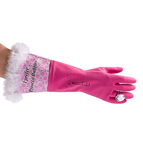 Ik geef de voorkeur aan Prosecco Bubbles Wassen Handschoenen