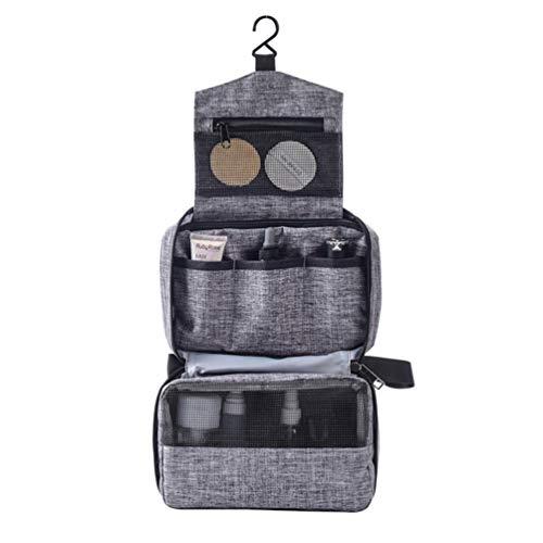 Bolsa de viagem Beaupretty para artigos de higiene para pendurar com gancho para cosméticos, bolsa para maquiagem, estojo organizador à prova d'água, kit de viagem para banheiro e banheiro para mulheres e homens